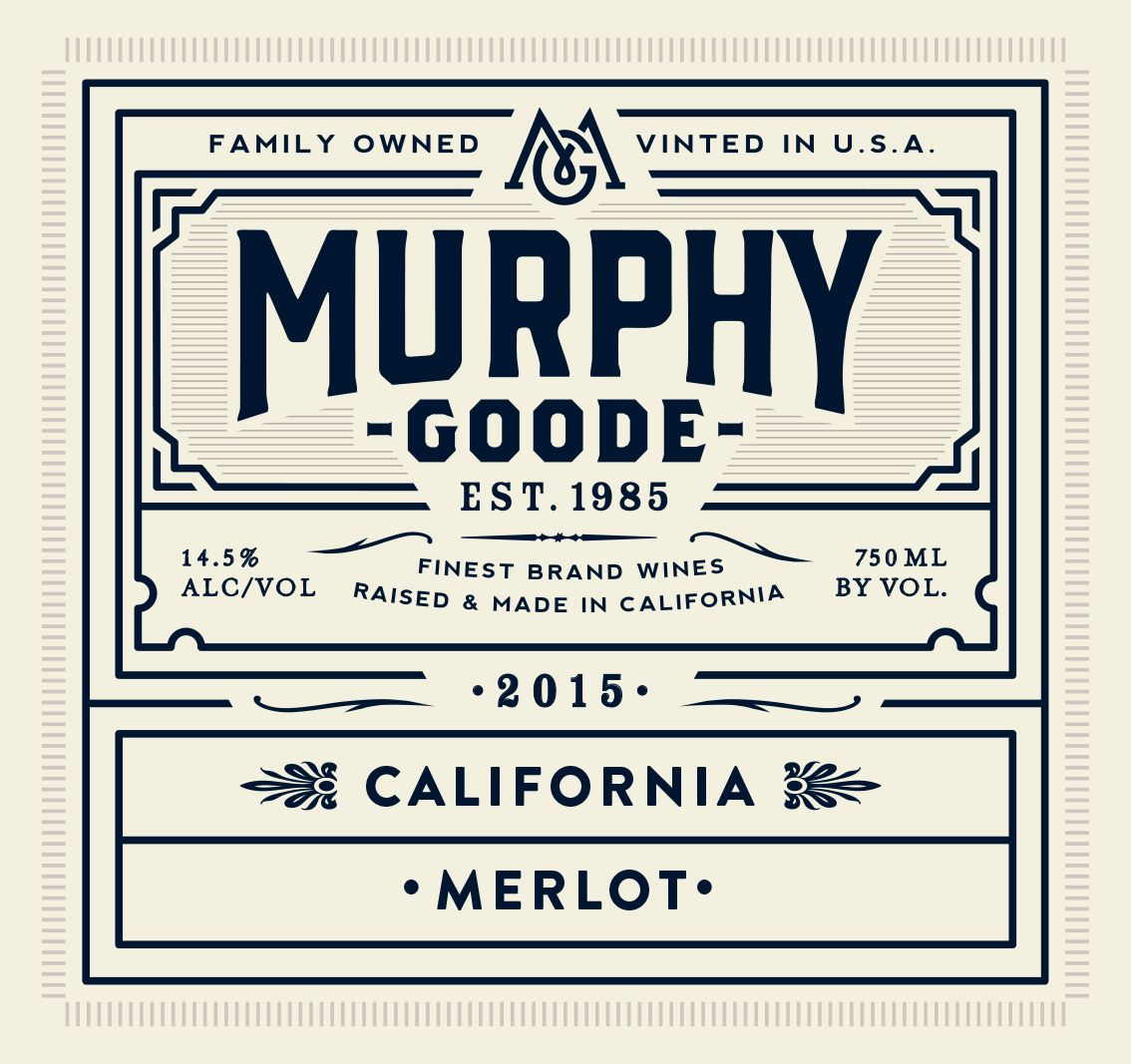 Murphy-Goode California Merlot 2015  Front Label