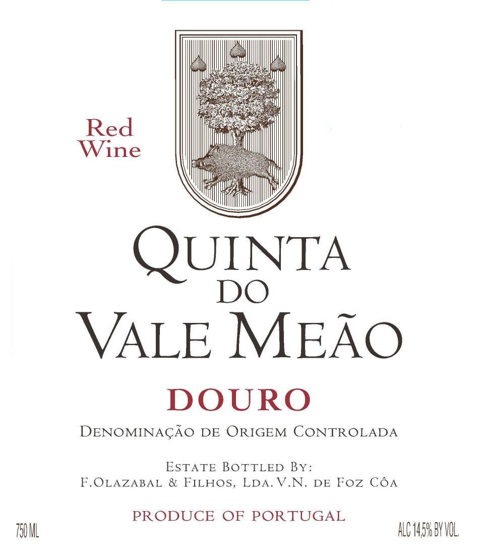 Quinta do Vale Meao Douro 2016  Front Label