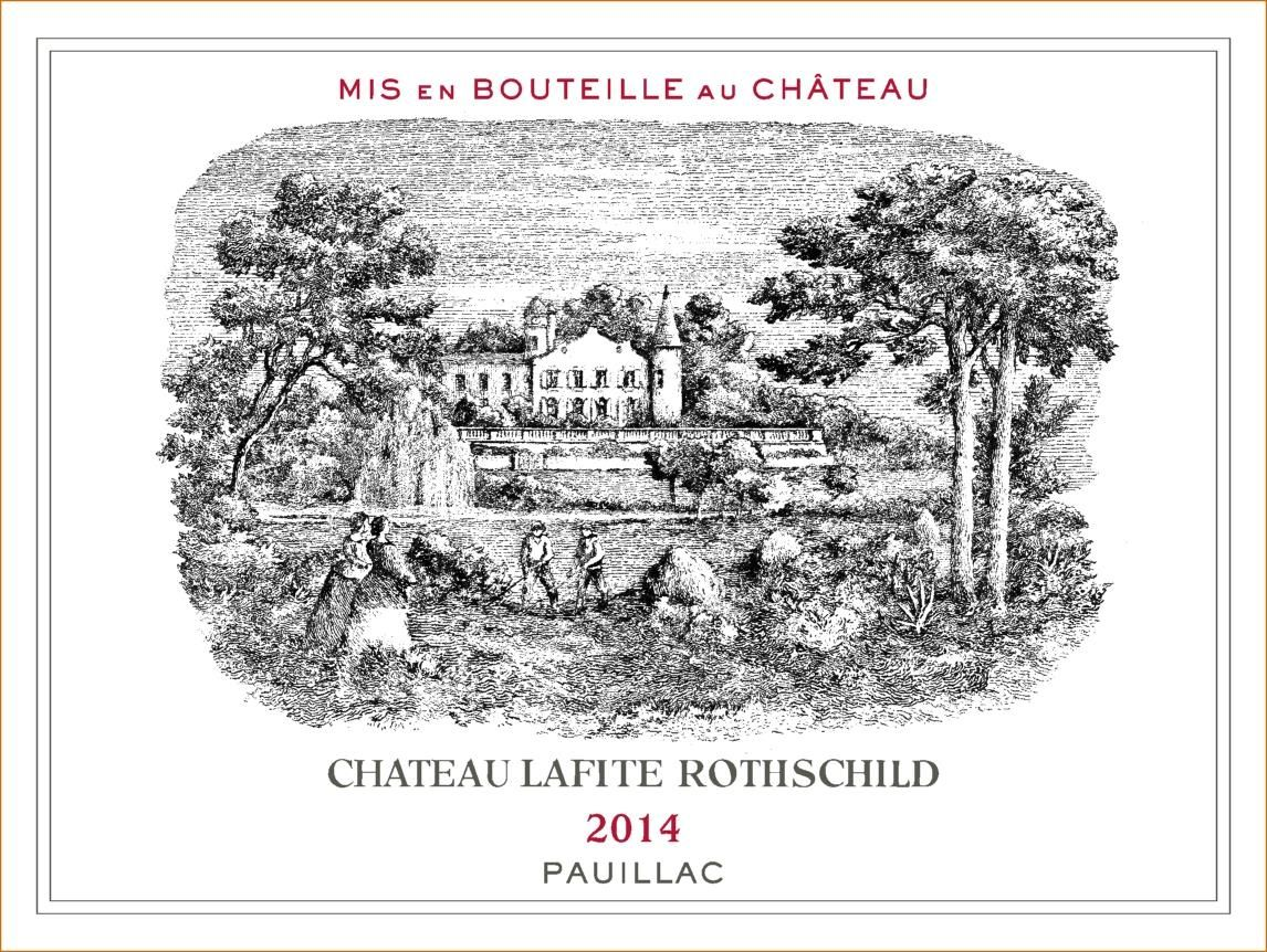 Chateau Lafite Rothschild  2014 Front Label