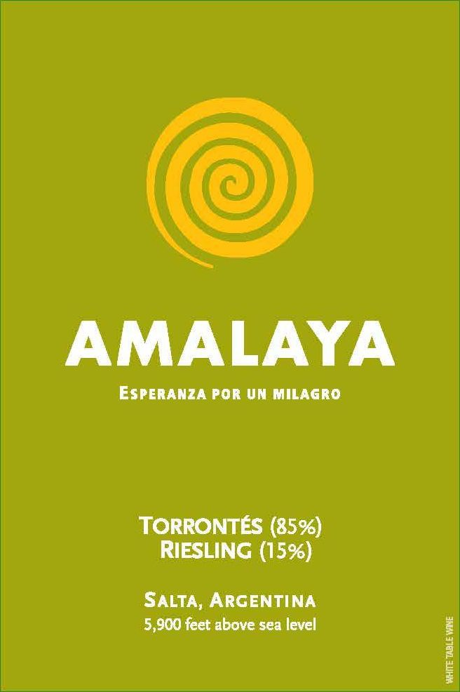 Amalaya Blanco 2019  Front Label