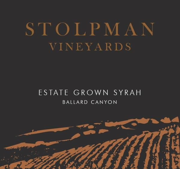 Stolpman Vineyards Estate Grown Syrah 2018  Front Label