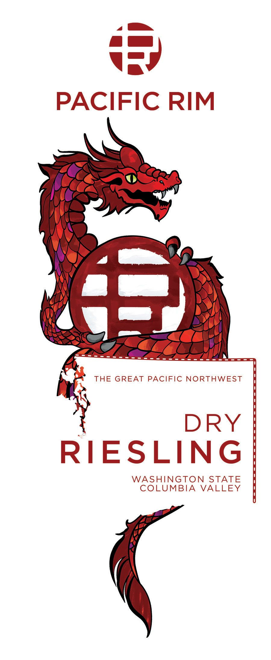 Pacific Rim Dry Riesling 2018  Front Label