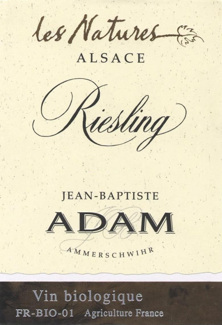 Jean-Baptiste Adam Les Natures Riesling 2017 Front Label