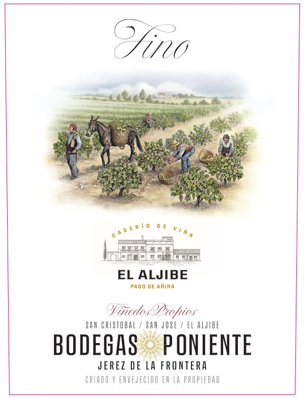 Bodegas Poniente Fino Sherry  Front Label