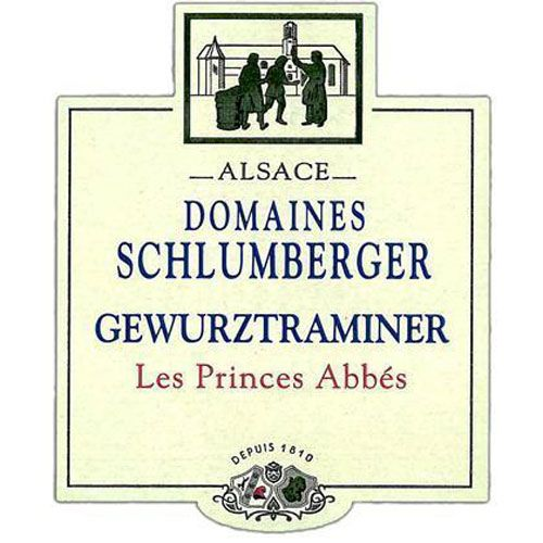 Domaines Schlumberger Les Princes Abbes Gewurztraminer 2015  Front Label