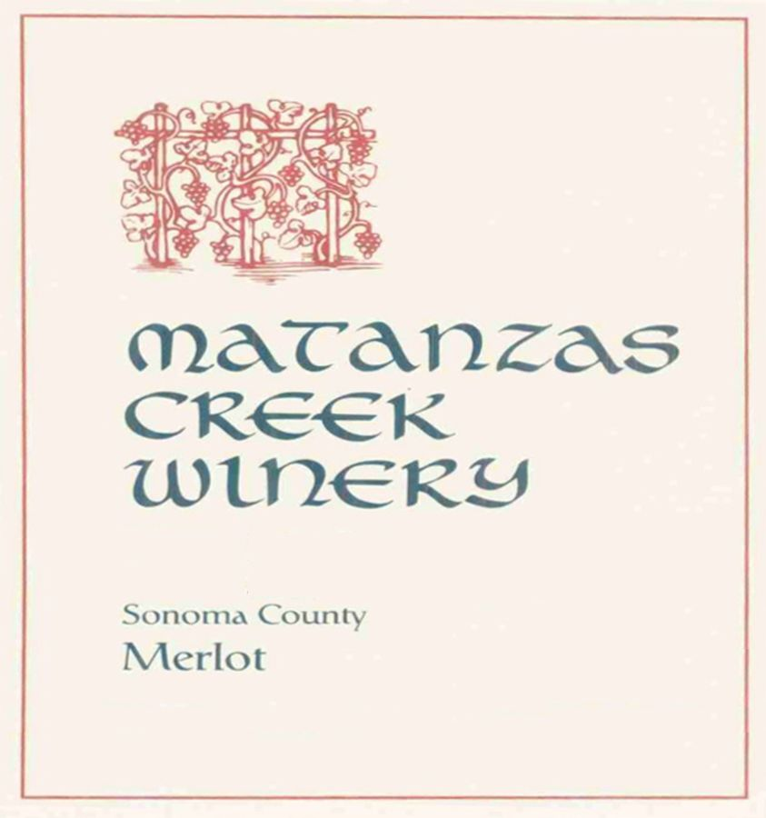 Matanzas Creek Sonoma County Merlot 1997  Front Label