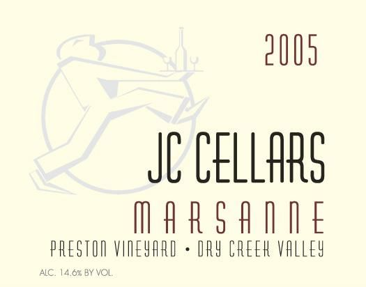 Jeff Cohn Cellars Preston Vineyard Marsanne 2005  Front Label