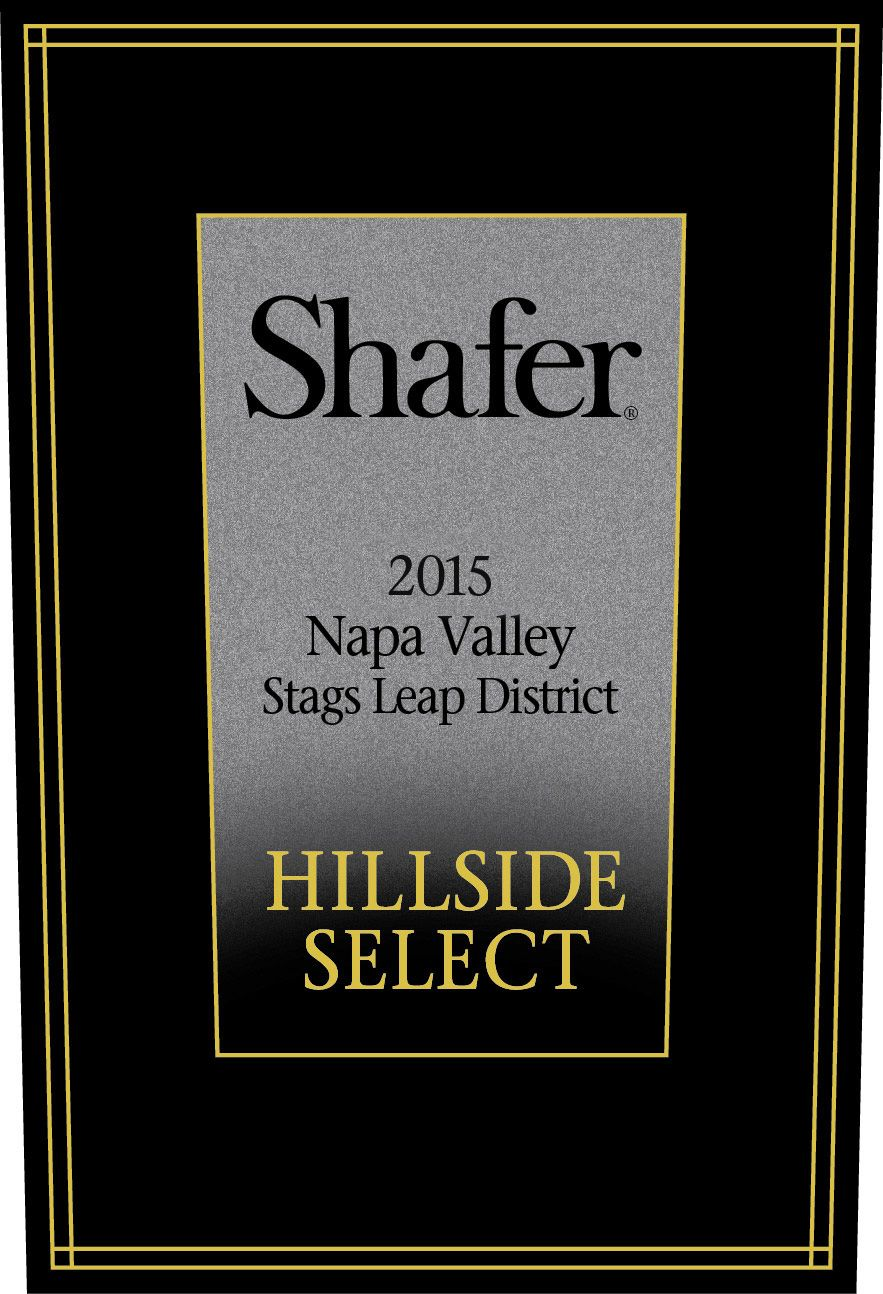 Shafer Hillside Select Cabernet Sauvignon 2015  Front Label