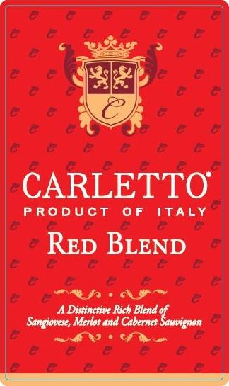 Carletto Red Blend 2018  Front Label