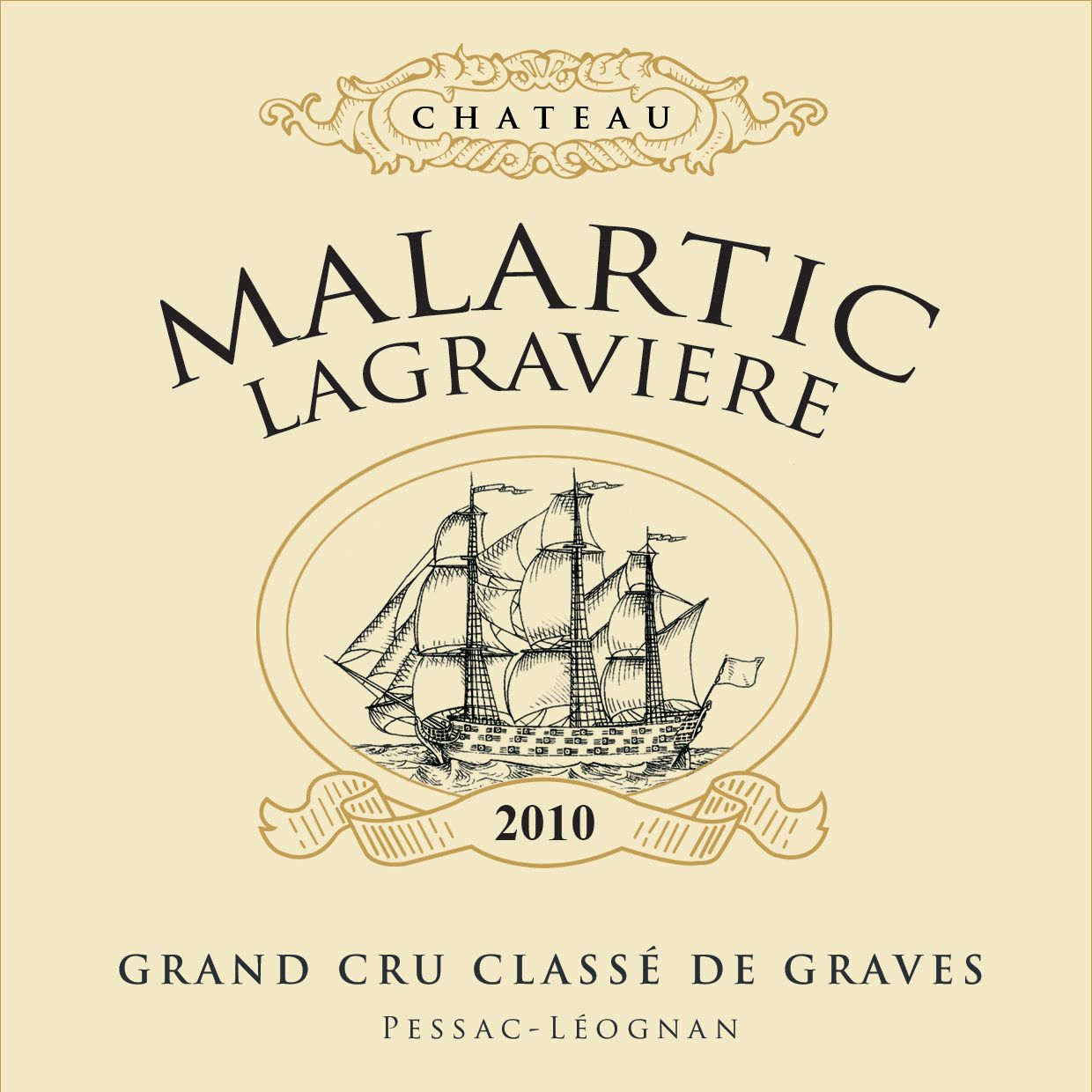 Chateau Malartic-Lagraviere  2010  Front Label