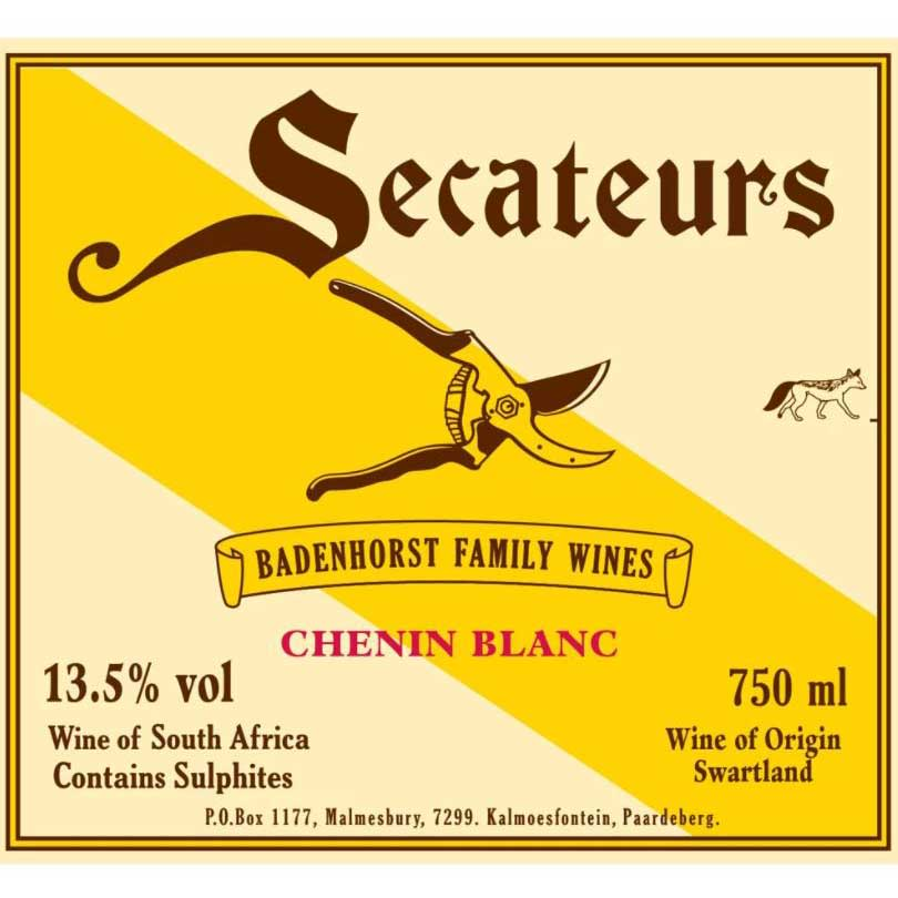 Badenhorst Secateurs Chenin Blanc 2019  Front Label