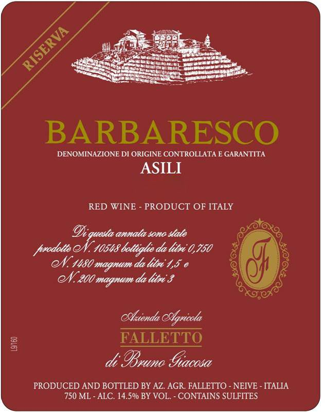 Bruno Giacosa Barbaresco Asili Riserva (3 Liter Bottle) 2011  Front Label