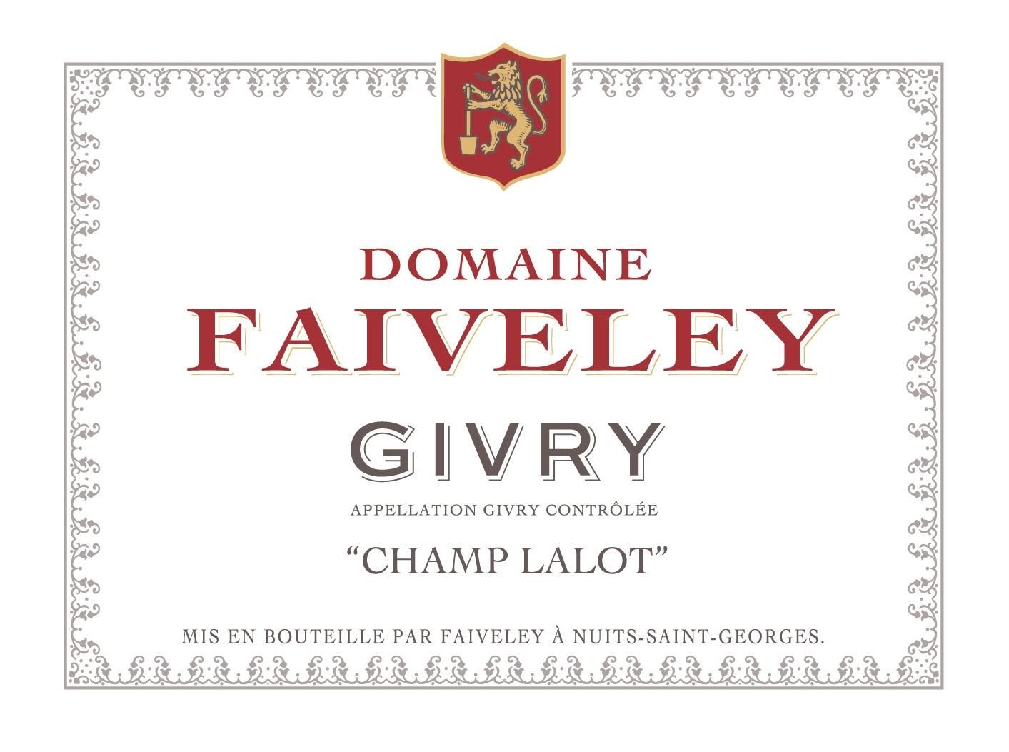 Domaine Faiveley Givry Champ Lalot Pinot Noir 2014  Front Label