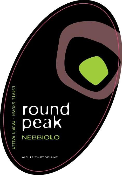Round Peak Vineyards Nebbiolo 2009 Front Label