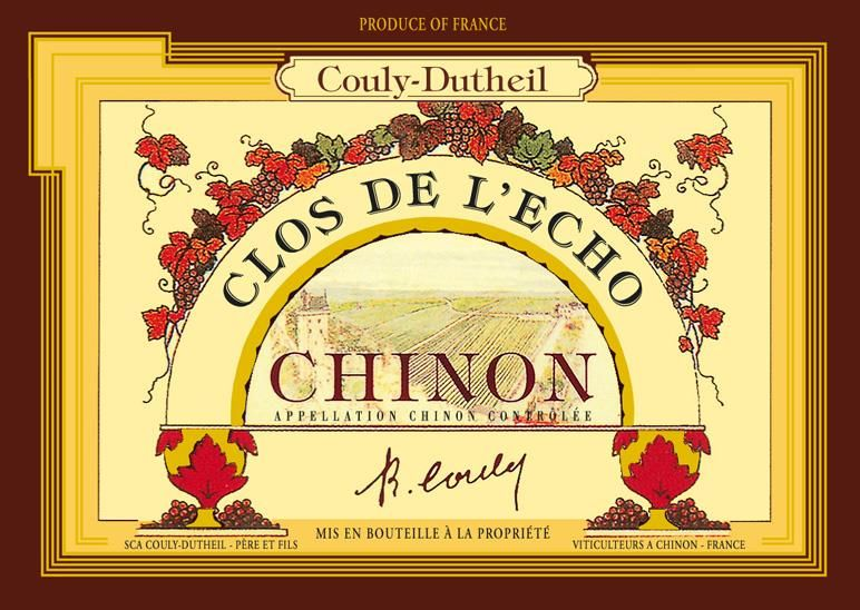 Couly-Dutheil Chinon Clos l'Echo 2016 Front Label