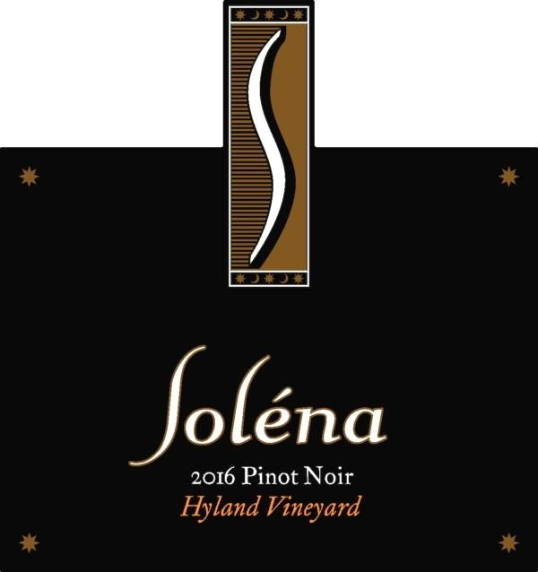 Solena Estate Hyland Vineyard Pinot Noir 2017  Front Label