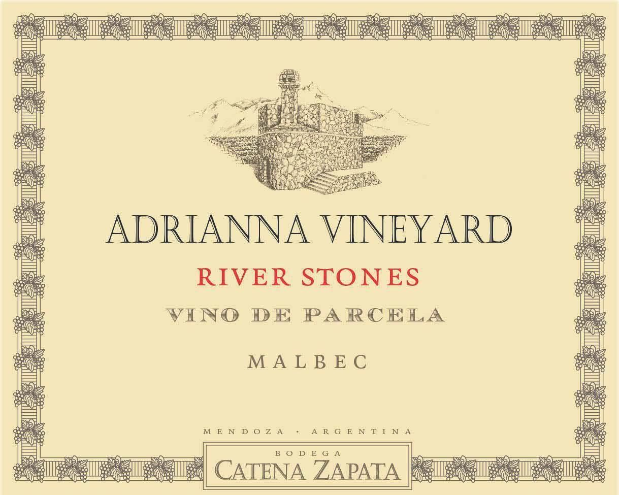 Catena Zapata Adrianna Vineyard River Stones Malbec 2017  Front Label