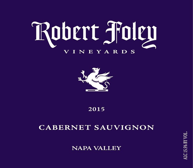 Robert Foley Vineyards Cabernet Sauvignon 2015  Front Label