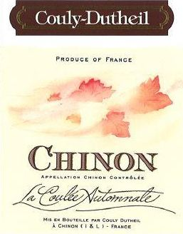Couly-Dutheil Chinon La Coulee Automnale 2015  Front Label