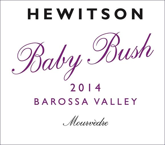 Hewitson Baby Bush Mourvedre 2014  Front Label