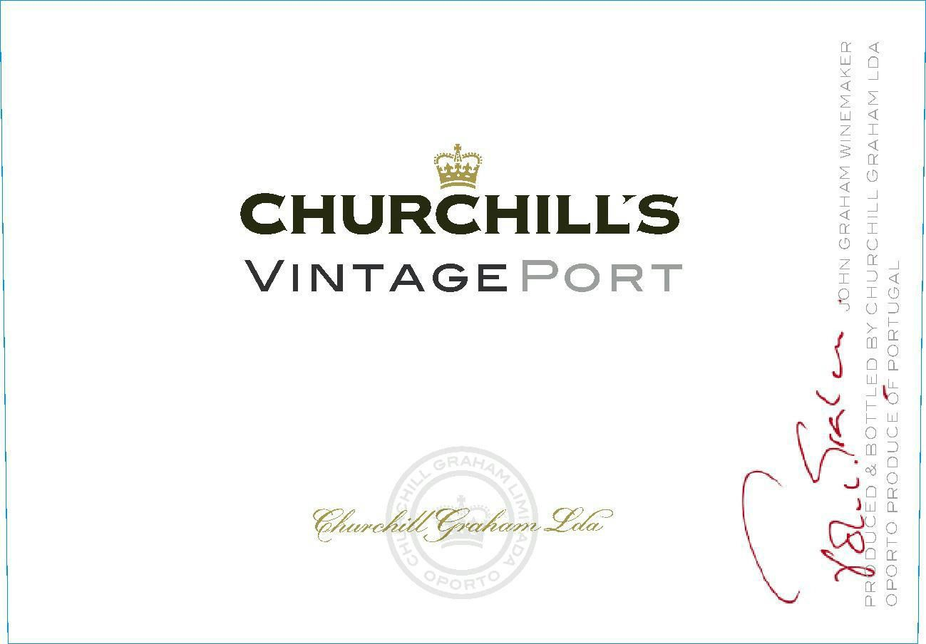Churchill's Vintage Port 2017  Front Label