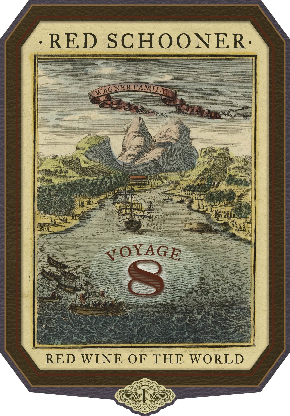 Red Schooner by Caymus Voyage 8 Front Label