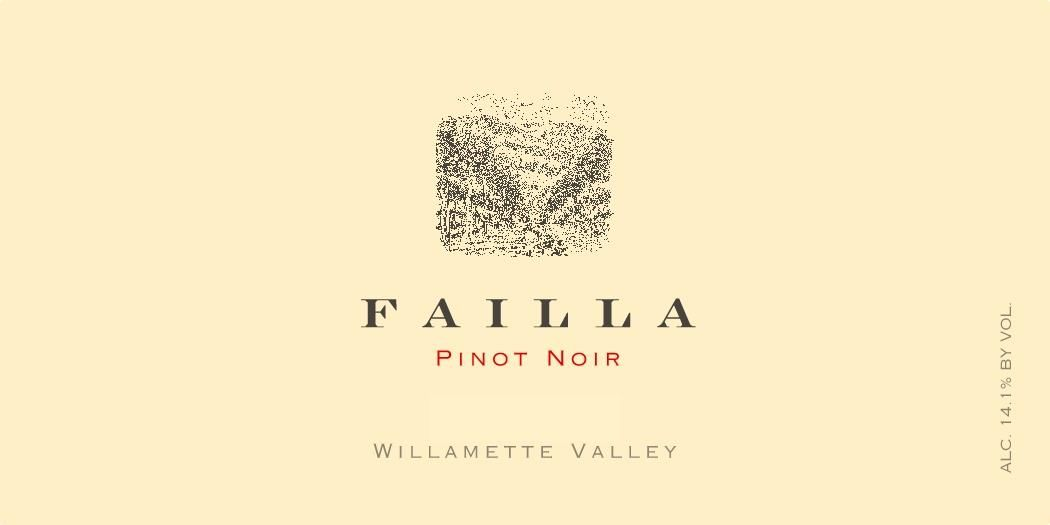 Failla Willamette Valley Pinot Noir 2018  Front Label