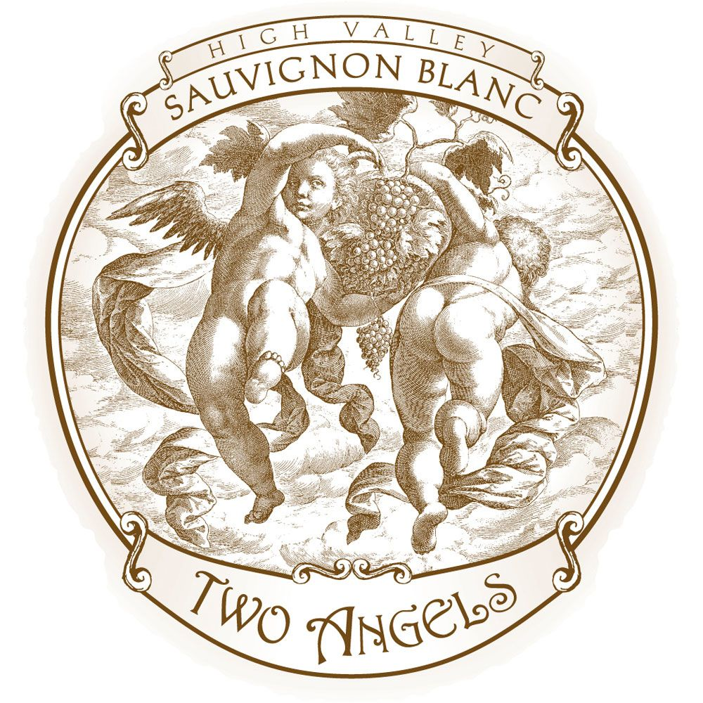 Two Angels Sauvignon Blanc 2018  Front Label