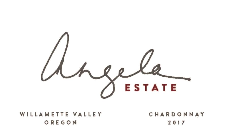 Angela Vineyards Chardonnay 2017  Front Label