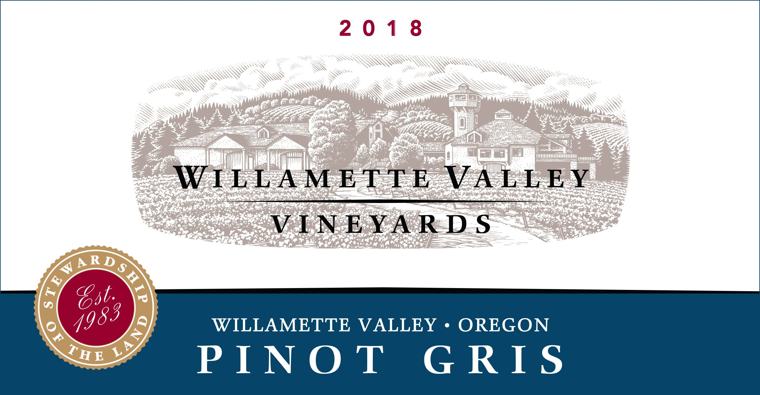 Willamette Valley Vineyards Pinot Gris 2018  Front Label