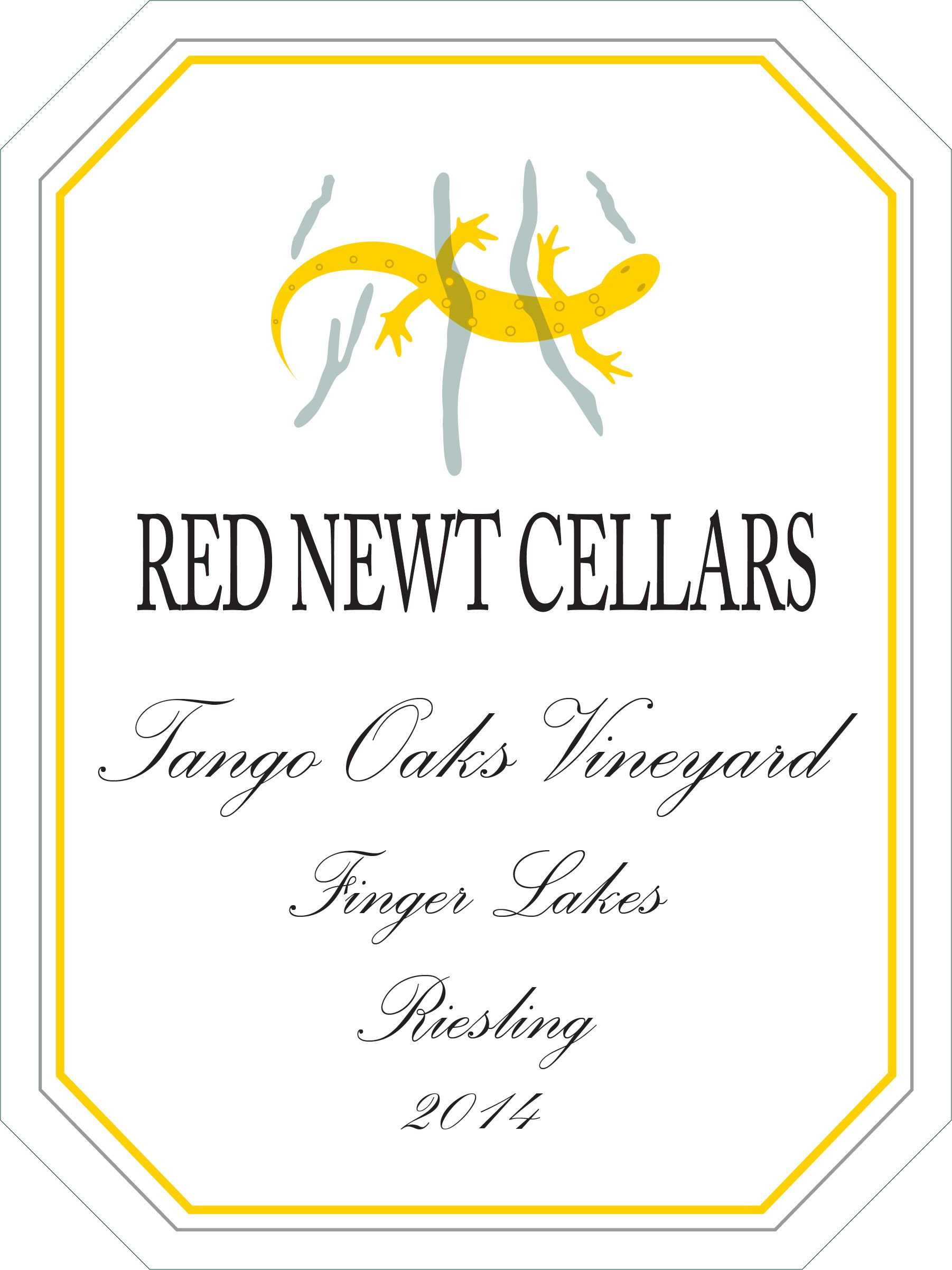Red Newt Cellars Tango Oaks Riesling 2014 Front Label