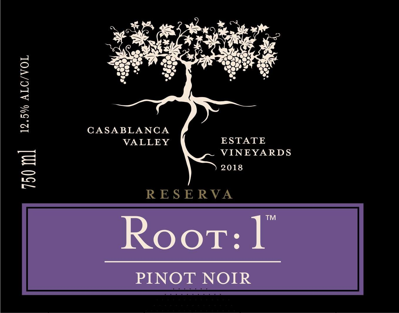 Root 1 Pinot Noir 2018 Front Label