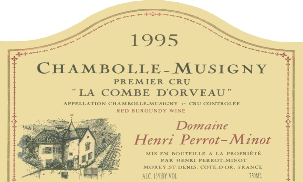 Domaine Perrot-Minot Chambolle-Musigny La Combe d'Orveau Premier Cru 1995  Front Label