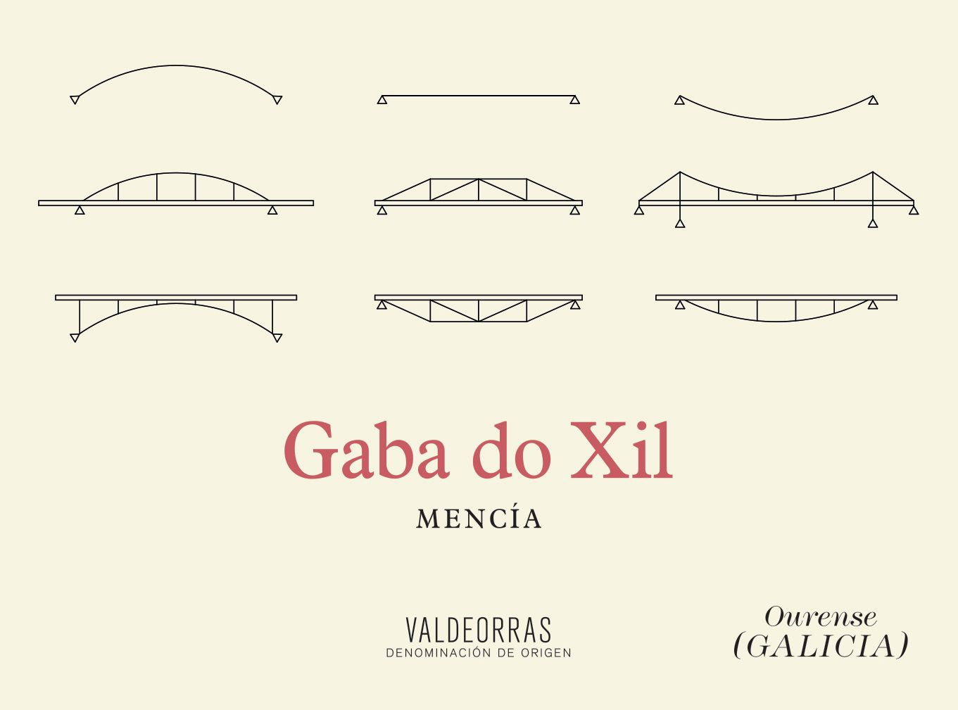Ladeiras do Xil Gaba do Xil Tinto 2016  Front Label