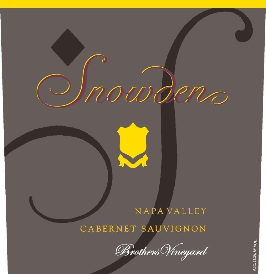 Snowden Brothers Vineyard Cabernet Sauvignon 2016  Front Label