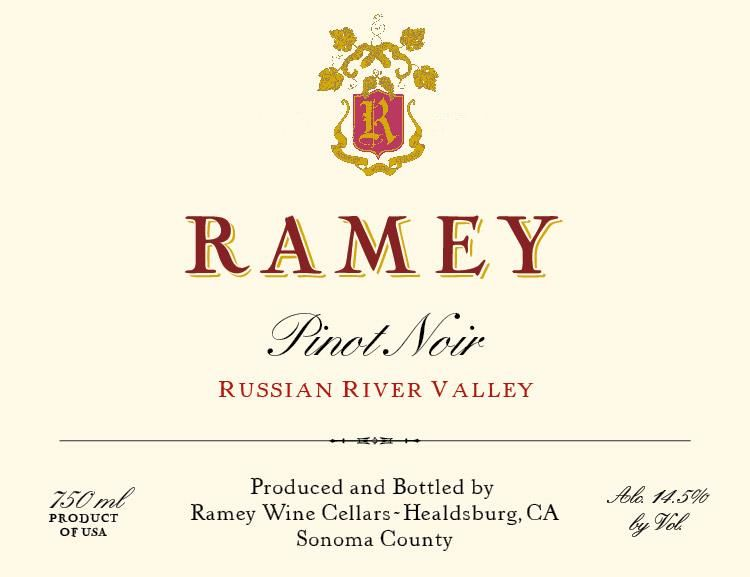Ramey Russian River Pinot Noir 2016  Front Label