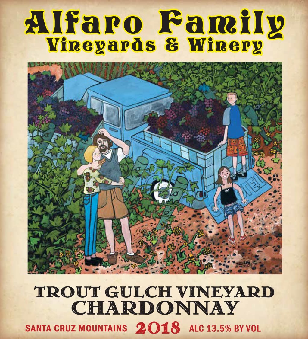 Alfaro Family Trout Gulch Vineyard Chardonnay (375ML half-bottle) 2018  Front Label