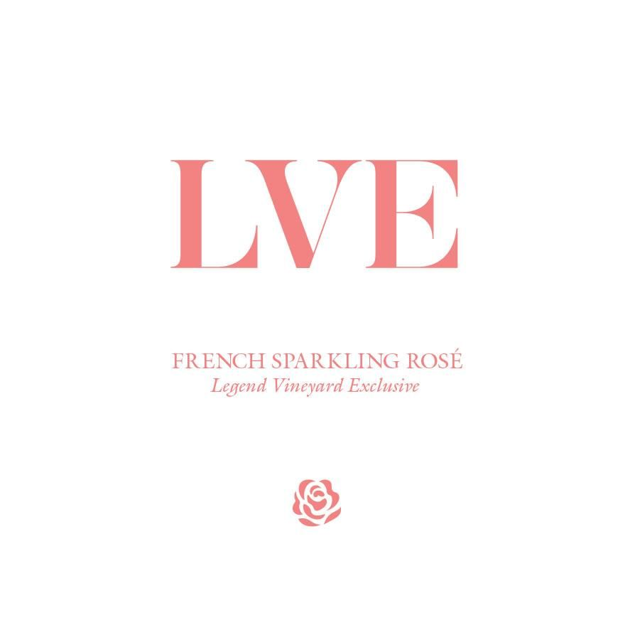 LVE by John Legend Sparkling Rose  Front Label