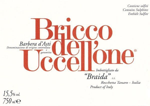 Braida Bricco dell' Uccellone Barbera d'Asti 2016  Front Label