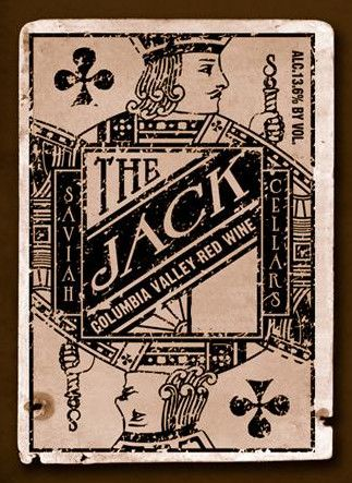 Saviah The Jack Red 2008 Front Label