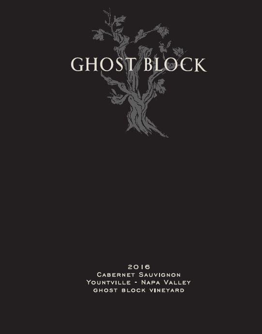 Ghost Block Single Vineyard Cabernet Sauvignon 2016  Front Label