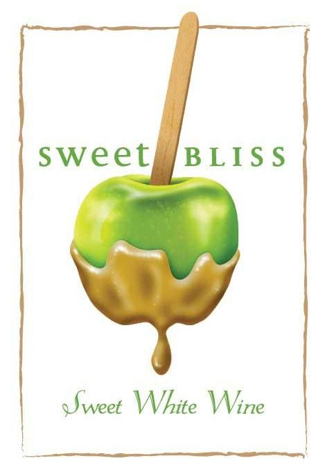 Sweet Bliss Winery Sweet White Wine Front Label