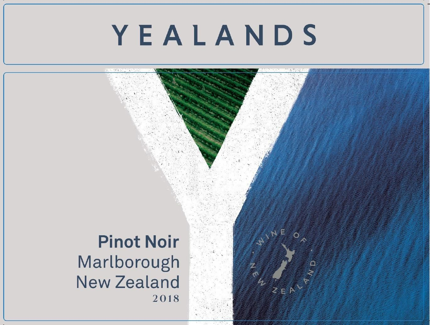 Yealands Pinot Noir 2018 Front Label