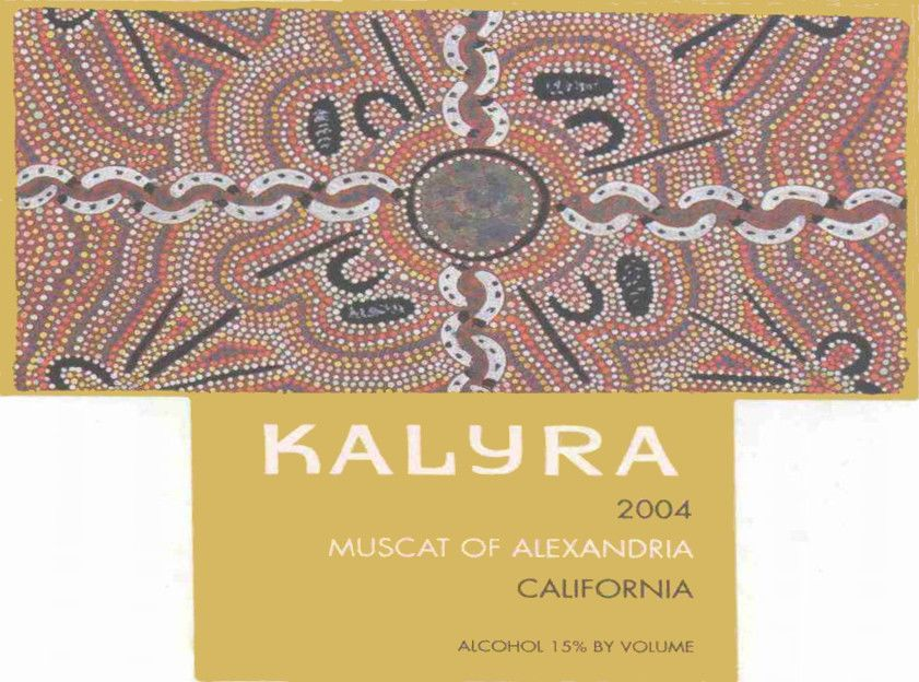 Kalyra Winery Muscat Of Alexandria 2004  Front Label
