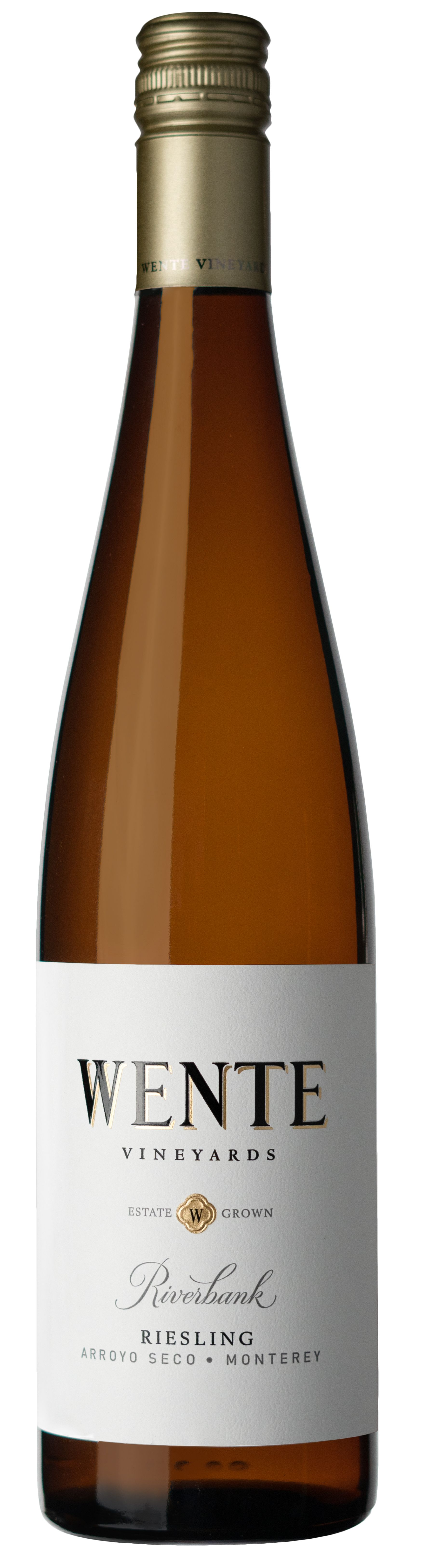 Wente Riverbank Riesling 2018  Front Bottle Shot