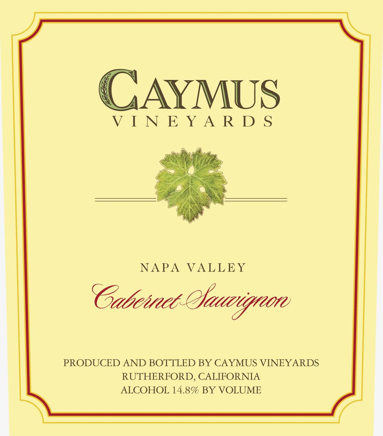Caymus Napa Valley Cabernet Sauvignon 2002  Front Label