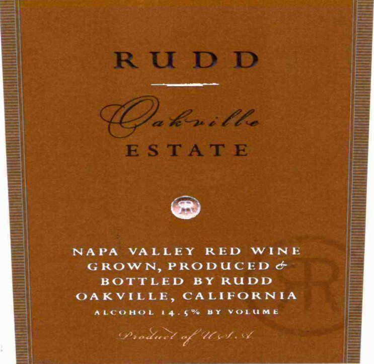 Rudd Oakville Estate Proprietary Red 2003  Front Label