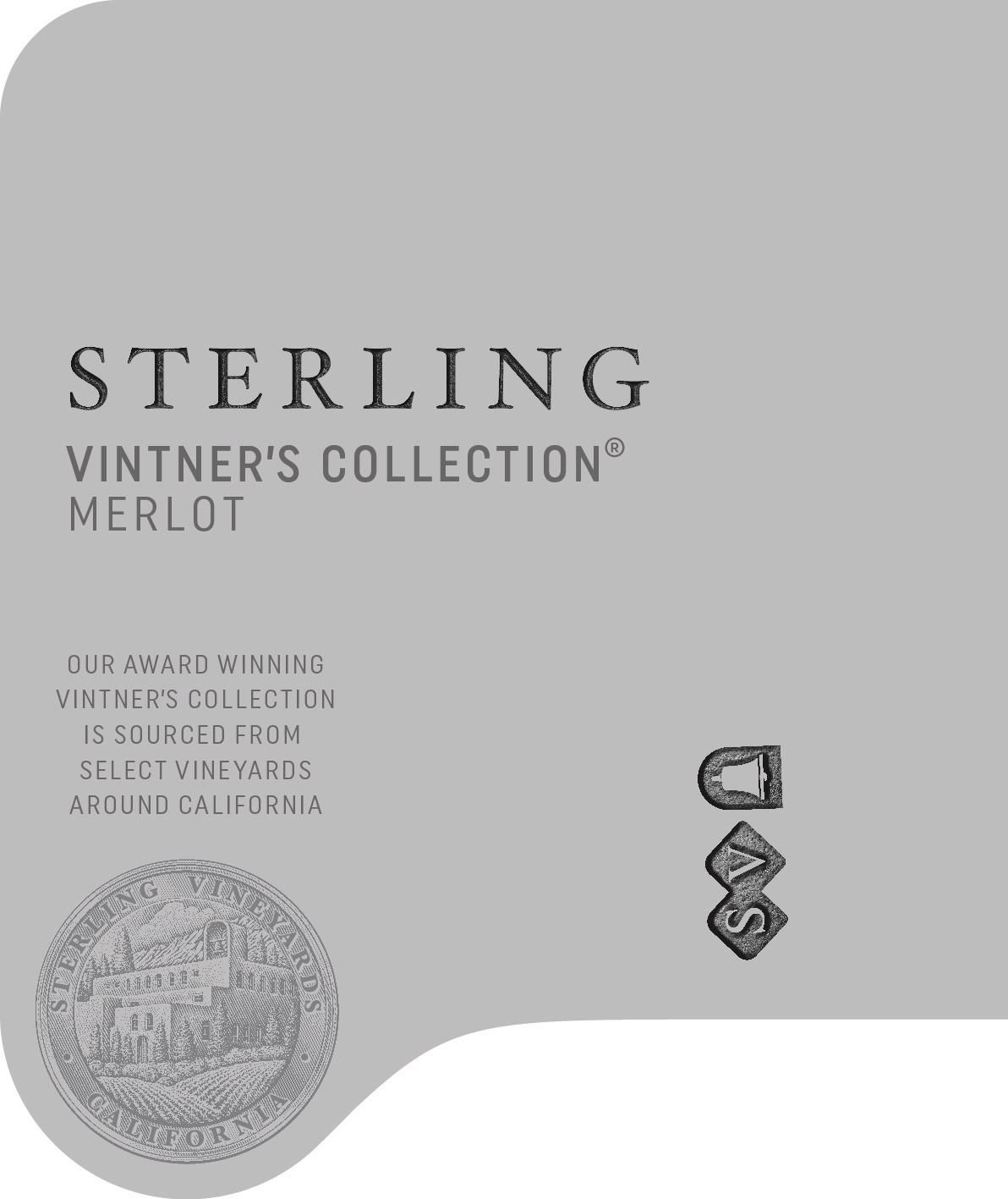 Sterling Vintner's Collection Merlot 2017 Front Label