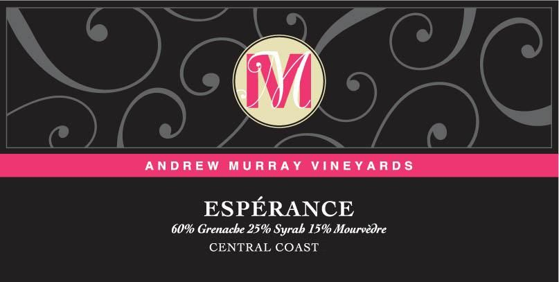 Andrew Murray Esperance Red Blend 2016 Front Label