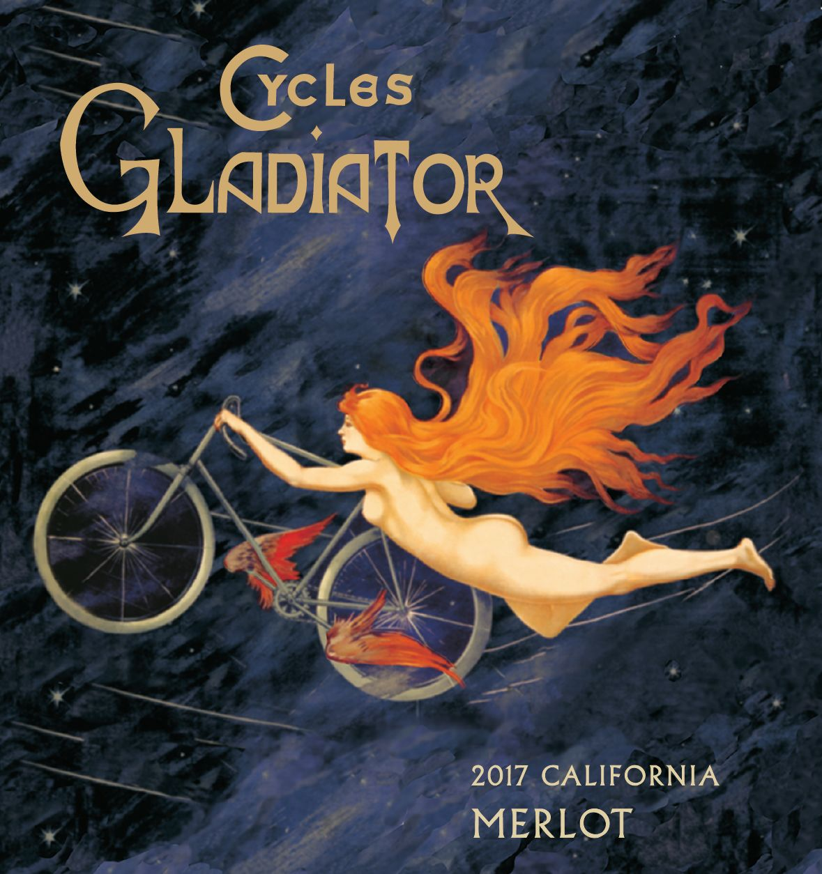 Cycles Gladiator Merlot 2017  Front Label